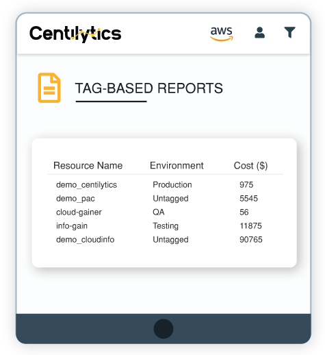 tag-based reports